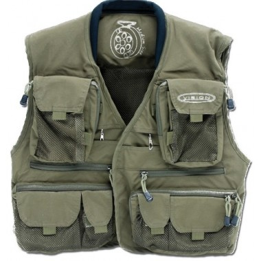 Kamizelka wędkarska Caribou Vest Green