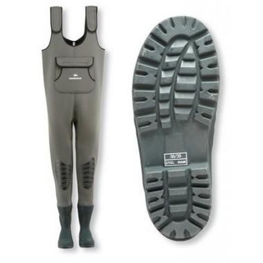 Spodniobuty neoprenowe z kauczukowymi butami