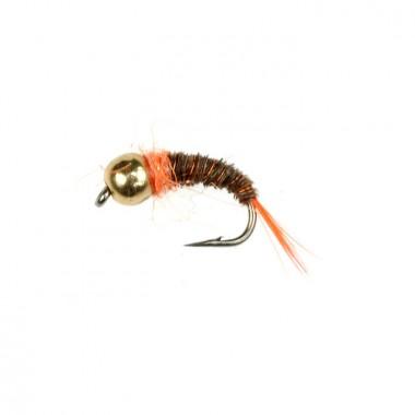 Mucha Tung. BH Sparkle Pheasant Tail Orange