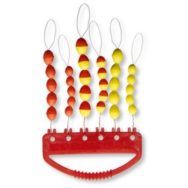 Sylikonowe stopery owalne czerwono-żółte
