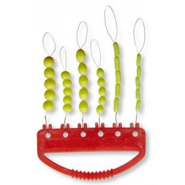 Zestaw silikonowych stoperów, fluo-zielone