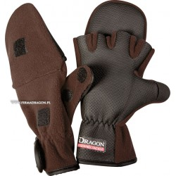 Rękawice polarowe z materiałem antypoślizgowym