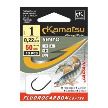 Haczyki z przyponem fluorocarbon Senyo sandacz Kamatsu