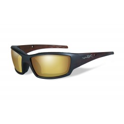 Okulary TIDE Polarized Amber Gold Mirror, Matte Hickory Brown Frame