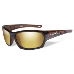 Okulary SSLEG04 - LEGEND Polarized Amber Gold Mirror, Gloss Hickory Brown Frame