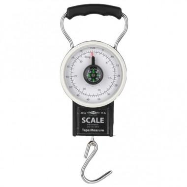Waga wędkarska, zakres 32kg, w komplecie kompas