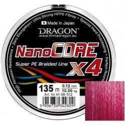 Plecionka Nano Core X4 ciemnoczerwona