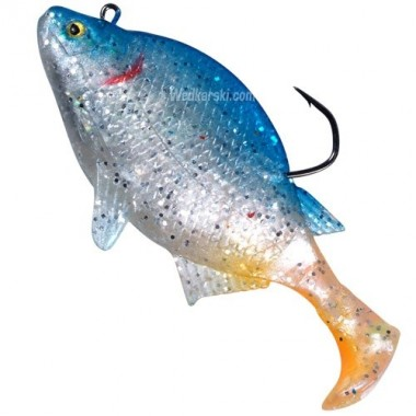SAVAGE GEAR SG FLAT SHINER KOLOR: blue shiner 8 cm