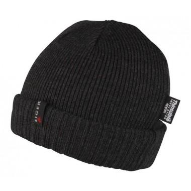 Ciepła czarna czapka