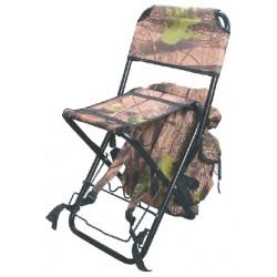 Krzesło z plecakiem i uchwytem na wędkę