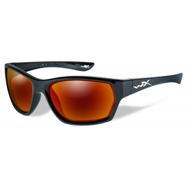 Okulary SSMOX05 - MOXY Polarized Crimson Mirror, Gloss Black Frame Wiley-X