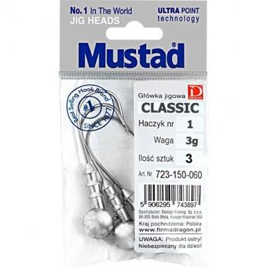 Główka jigowa CLASSIC Mustad