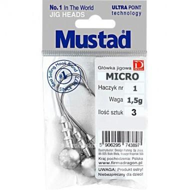 Główka jigowa MICRO Mustad