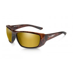 Okulary KOBE Polarized Gold Mirror Amber Lens Gloss Hickory Bronze Frame