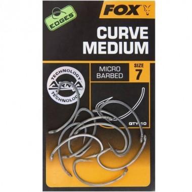 Haczyki karpiowe Carp Edges Curve Shank Medium FOX