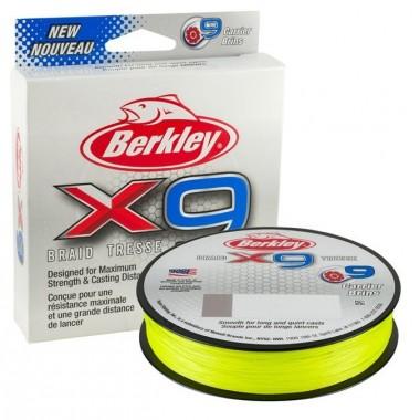 Plecionka X9 Braid Fluo Green Berkley