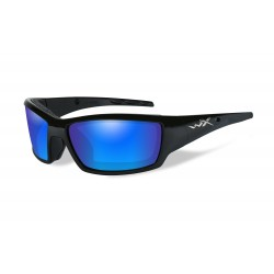 Okulary TIDE Polarized Blue Mirror, Gloss Black Frame