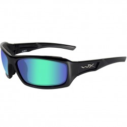 Okulary ECHO Polarized Emerald Mirror Amber Gloss Black Frame