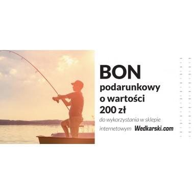 Bon podarunkowy 200 zł Wedkarski.com