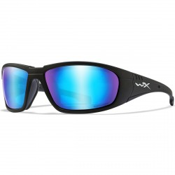 Okulary BOSS Captivate Polarized Blue Mirror Smoke Grey Matte Black Frame