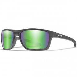 Okulary KINGPIN Captivate Polarized Green Mirror Matte Graphite Frame