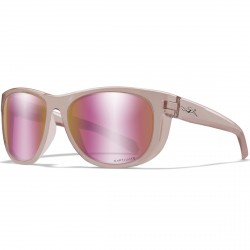 Okulary WEEKENDER Captivate Polarized Rose Gold Mirror Green Crystal Blush Frame