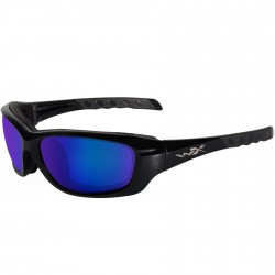 Okulary GRAVITY Polarized Blue Mirror Black Crystal Frame