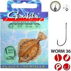 Haczyki Flatfish Worm 36