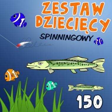Zestaw spinningowy dla dzieci 150 Wedkarski.com