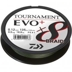 Plecionka Tournament Evo+ ciemnozielona 135m