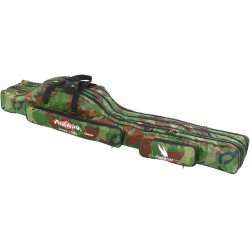Pokrowiec wędkarski 3-komorowy camouflage